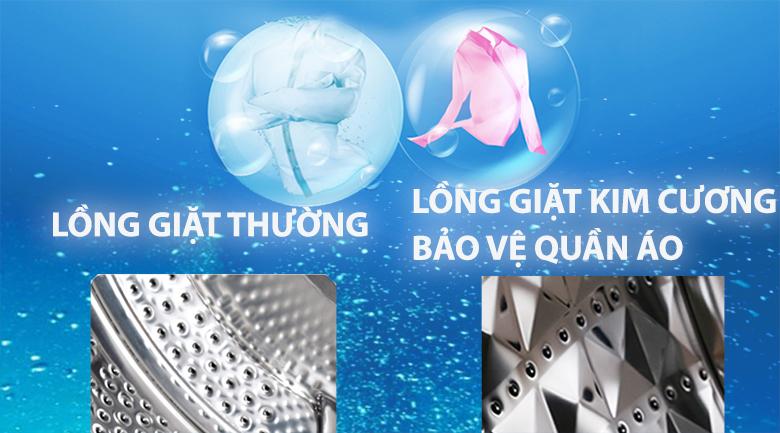 Lồng giặt kim cương - Máy giặt sấy Samsung AddWash Inverter 8 kg WD85K5410OX/SV