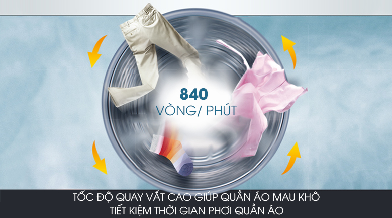 Tính năng vắt cực khô - Máy giặt Aqua 8.0 Kg AQW-S80AT