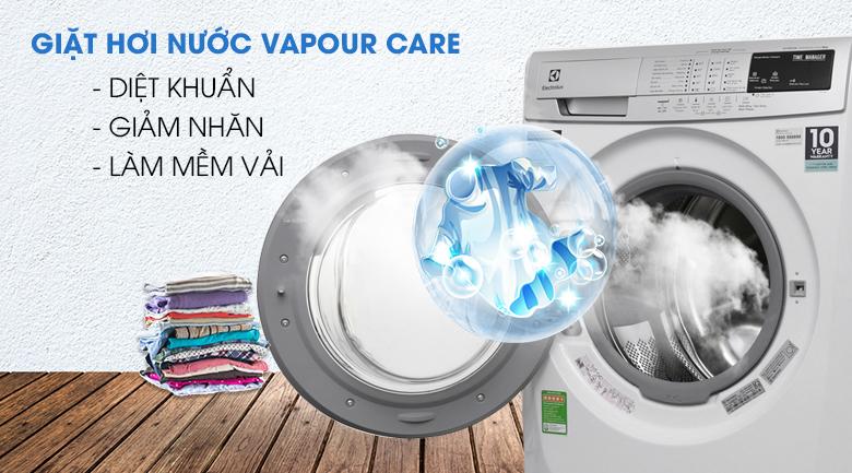 Giặt hơi nước Vapour Care - Máy giặt Electrolux Inverter 9kg EWF12944