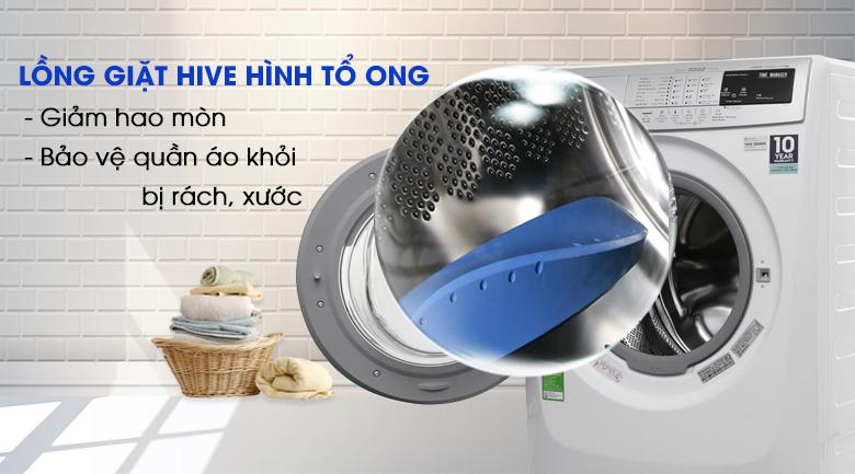 Lồng giặt Hive hình tổ ong - Máy giặt Electrolux Inverter 9kg EWF12944