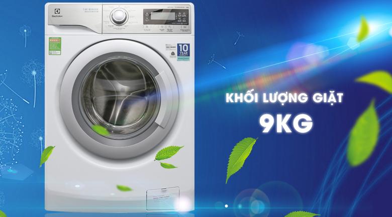 Khối lượng giặt - Máy giặt Electrolux Inverter 9 kg EWF12938