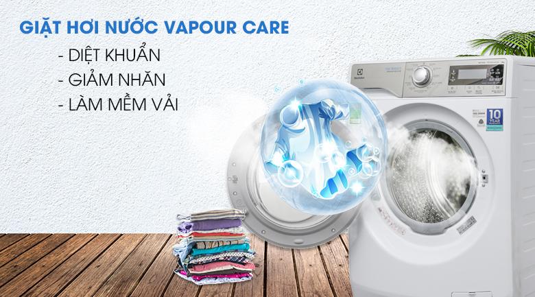 Giặt hơi nước Vapour Care - Máy giặt Electrolux Inverter 9 kg EWF12938