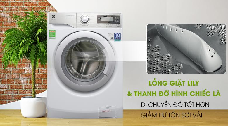 Lồng giặt Lily & thanh đỡ hình chiếc lá - Máy giặt Electrolux Inverter 9 kg EWF12938