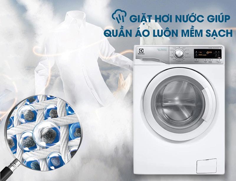 Diệt khuẩn và làm mềm vải với công nghệ giặt hơi nước Vapour Care