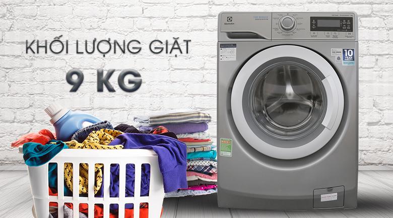 Khối lượng giặt 9 kg - Máy giặt Electrolux Inverter 9kg EWF12938S