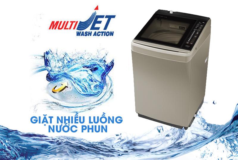 Công nghệ giặt Multi Jet cho hiệu quả giặt sạch vượt trội
