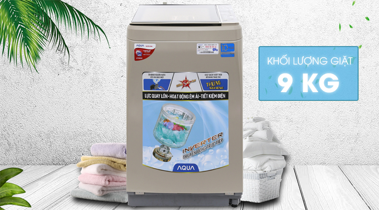 Máy giặt Aqua Inverter 9 kg AQW-D901BT N