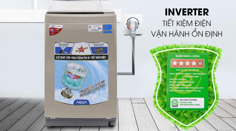 Inverter - Máy giặt Aqua Inverter 9 kg AQW-D901BT N