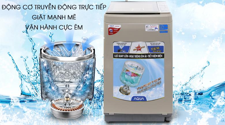 Động cơ truyền động trực - Máy giặt Aqua Inverter 9 kg AQW-D901BT N