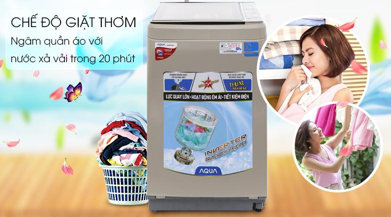 Chế độ giặt thơm - Máy giặt Aqua Inverter 9 kg AQW-D901BT N