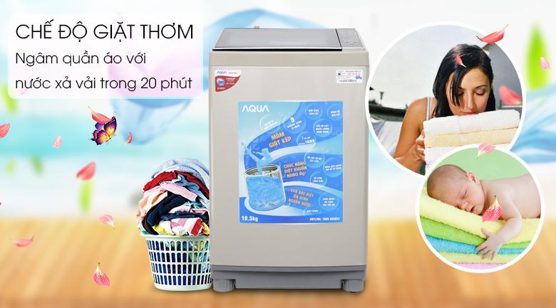 Giặt thơm - Máy giặt Aqua 10.5 kg AQW-FW105AT N