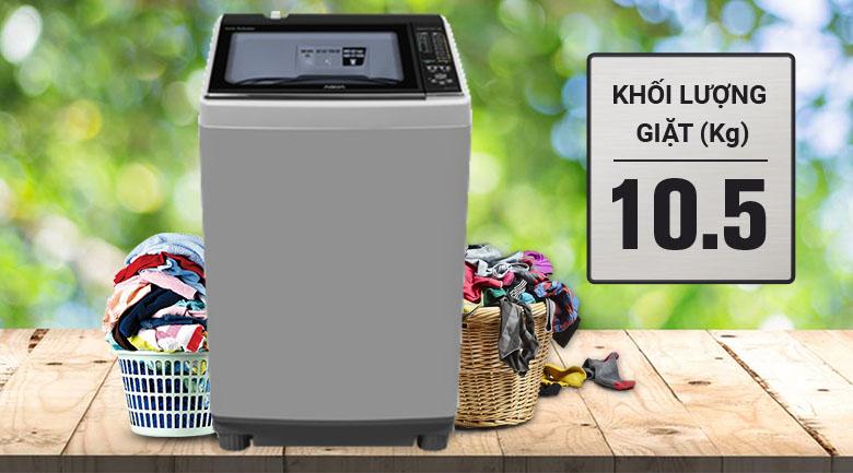 Khối lượng giặt 10.5 kg - Máy giặt Aqua 10.5 kg AQW-FW105AT S
