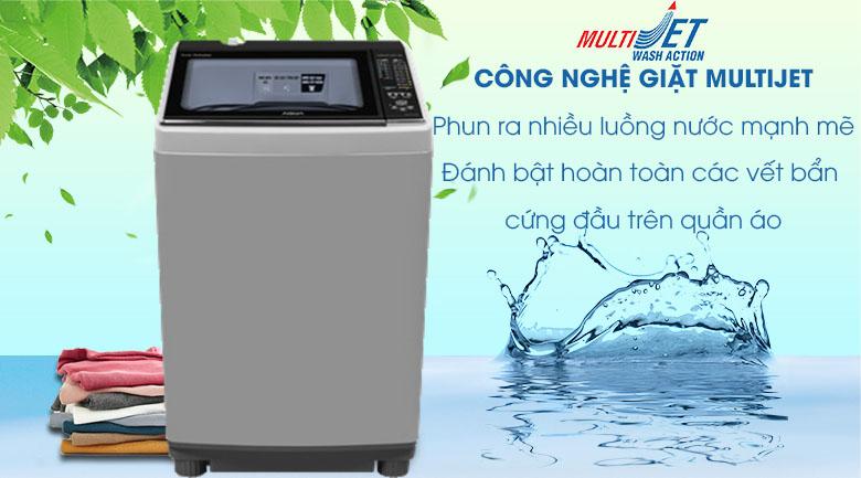 Công nghệ MultiJet - Máy giặt Aqua 10.5 kg AQW-FW105AT S