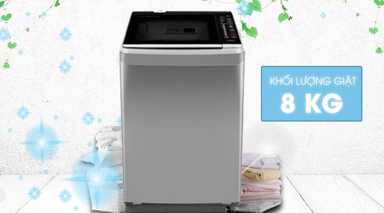 Khối lượng giặt 8 kg - Máy giặt Aqua 8 kg AQW-F800BT S