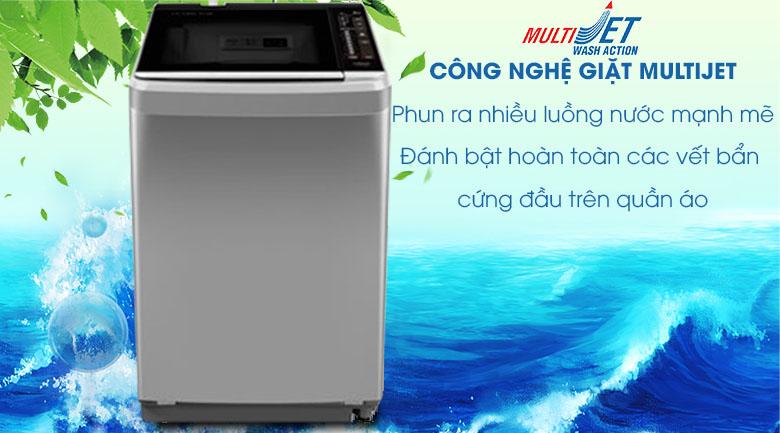 Công nghệ MultiJet - Máy giặt Aqua 8 kg AQW-F800BT S