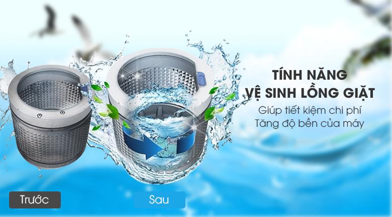 Tự vệ sinh lồng giặt - Máy giặt Aqua 8 kg AQW-F800BT S