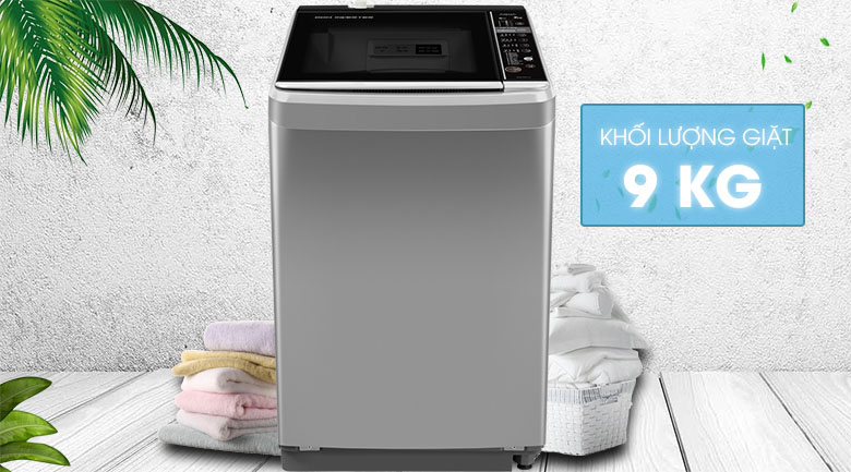 Khối lượng 9 kg - Máy giặt Aqua Inverter 9 kg AQW-D901BT S