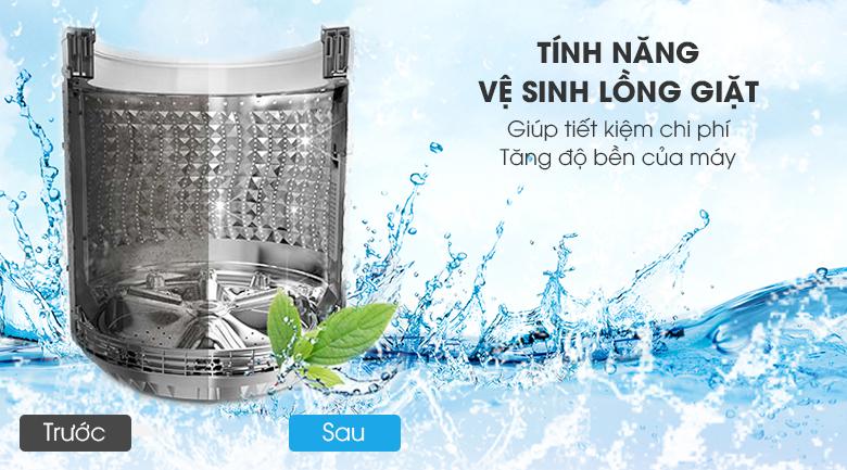 Tự động vệ sinh lồng giặt - Máy giặt Aqua Inverter 9 kg AQW-D901BT S