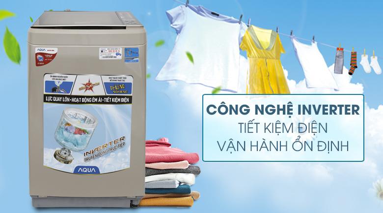 Inverter - Máy giặt Aqua Inverter 9 kg AQW-D900BT N