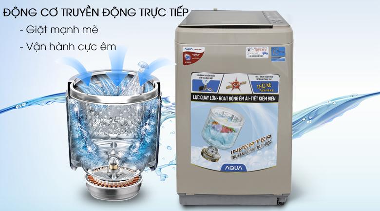 Động cơ truyền động trực tiếp - Máy giặt Aqua Inverter 9 kg AQW-D900BT N