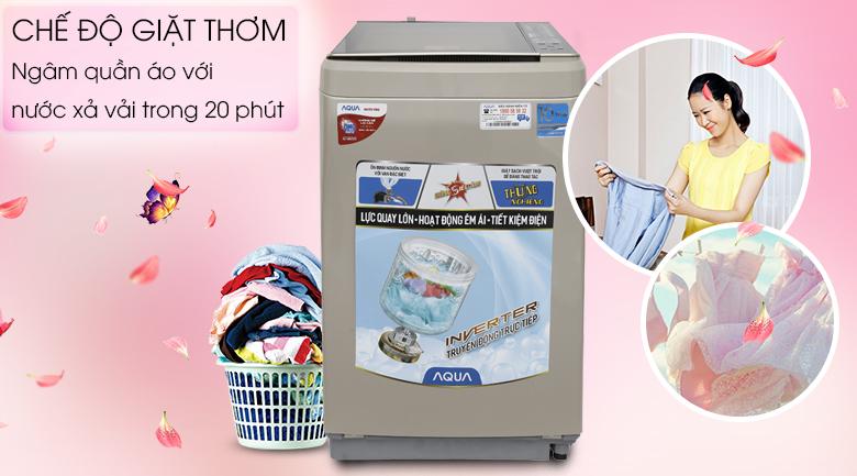 Chế độ giặt thơm - Máy giặt Aqua Inverter 9 kg AQW-D900BT N