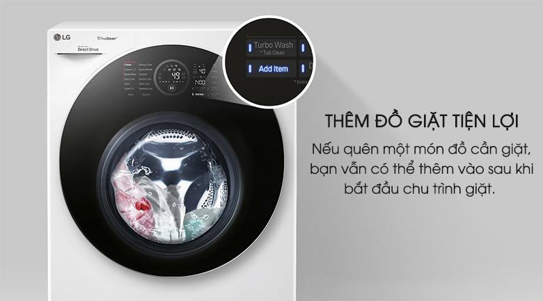 thêm đồ giặt tiện lợi - Máy giặt LG Twinwash FG1405H3W & TG2402NTWW