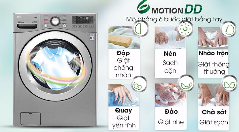 Công nghệ 6 Motion - Máy giặt LG Inverter 19 kg F2719SVBVB