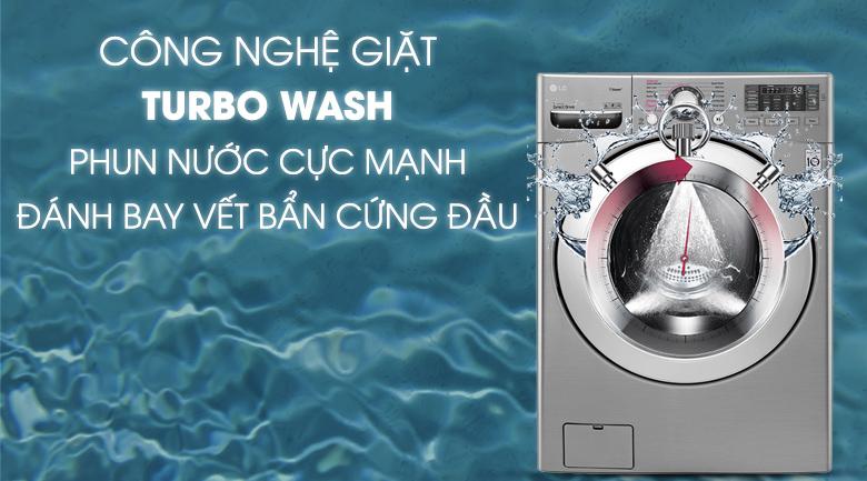 Công nghệ Turbo Wash - Máy giặt LG Inverter 19 kg F2719SVBVB