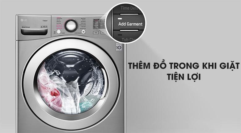 Thêm đồ giặt - Máy giặt LG Inverter 19 kg F2719SVBVB