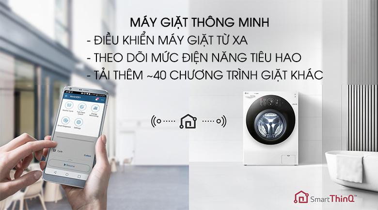 Máy giặt thông minh - Máy giặt sấy LG Inverter 10.5 kg FG1405H3W