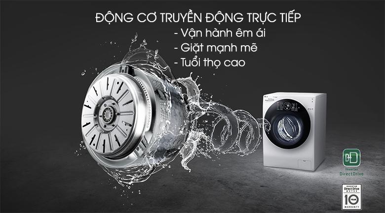 Động cơ Inverter truyền động trực tiếp - Máy giặt sấy LG Inverter 10.5 kg FG1405H3W
