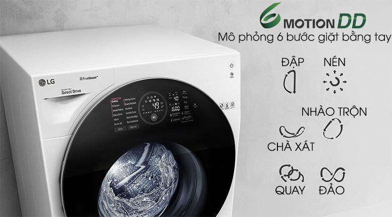 6 motion DD - Máy giặt sấy LG Inverter 10.5 kg FG1405H3W