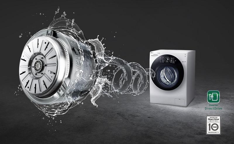 Động cơ Inverter truyền động trực tiếp vận hành bền bỉ, bảo hành lên đến 10 năm