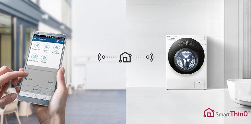 Sử dụng Smartphone để chẩn đoán tình trạng và điều khiển máy giặt sấy từ xa một cách thông minh