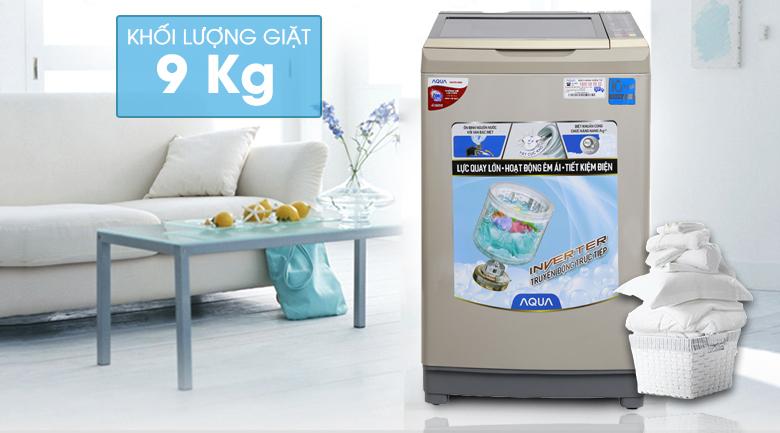 Máy giặt Aqua Inverter 9 kg AQW-D90AT N