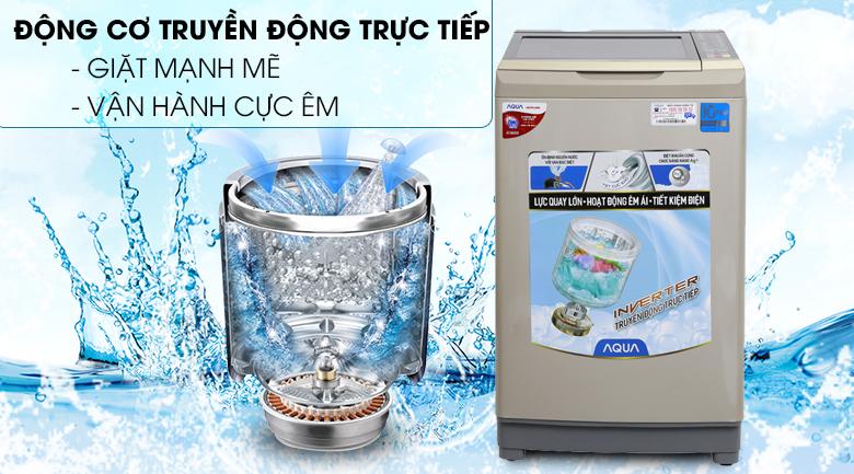 Động cơ truyền động trực tiếp - Máy giặt Aqua Inverter 9 kg AQW-D90AT N