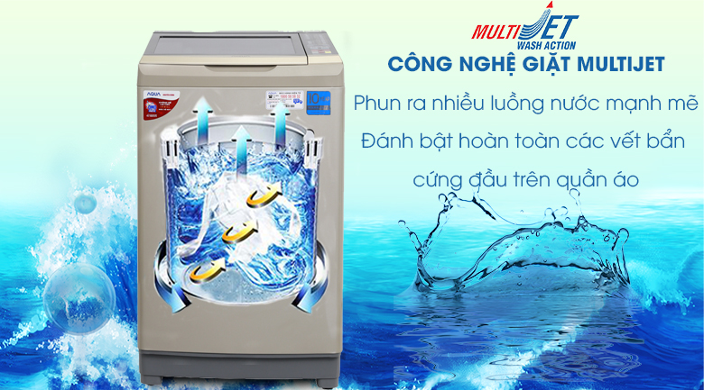 MultiJet - Máy giặt Aqua Inverter 9 kg AQW-D90AT N