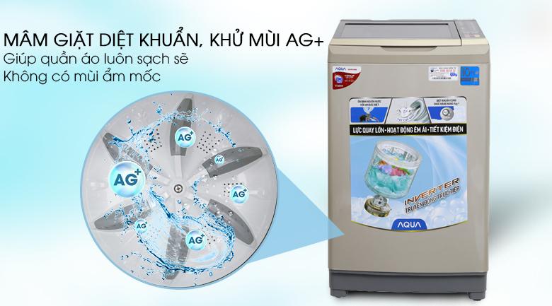 Máy giặt Aqua Inverter 9 kg AQW-D90AT N - Công nghệ Nano Ag+
