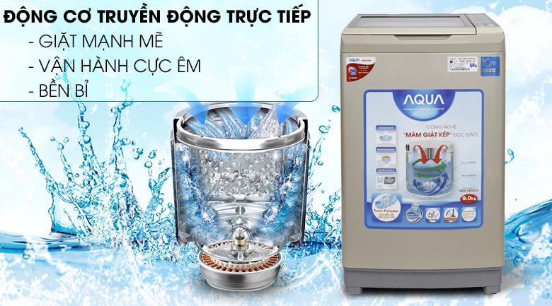 Truyền động trực tiếp - Máy giặt Aqua Inverter 9 kg AQW-DW90AT N