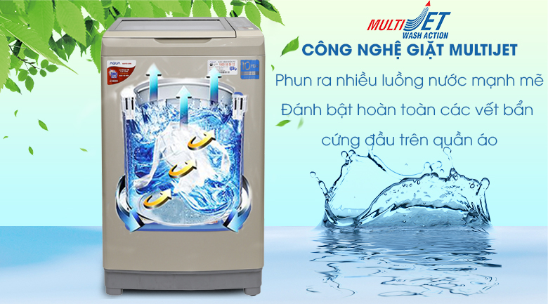 MultiJet - Máy giặt Aqua Inverter 9 kg AQW-DW90AT N