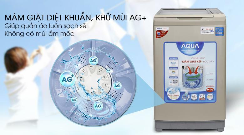 Máy giặt Aqua Inverter 9 kg AQW-DW90AT N - Công nghệ Nano Ag+