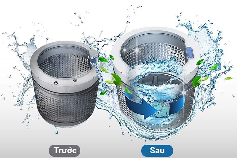 Tiết kiệm thời gian làm vệ sinh máy với tính năng vệ sinh lồng giặt