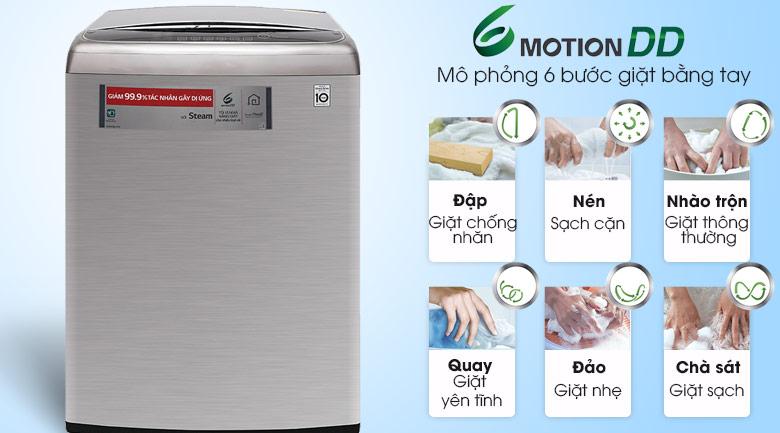 Công nghệ giặt 6 chuyển động - Máy giặt LG Inverter 21 kg T2721SSAV