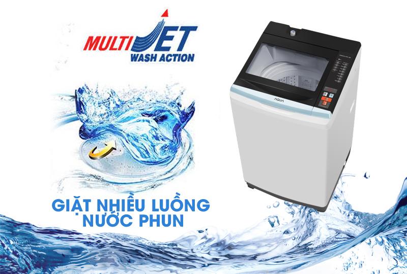 Công nghệ giặt nhiều luồng nước phun Multi Jet