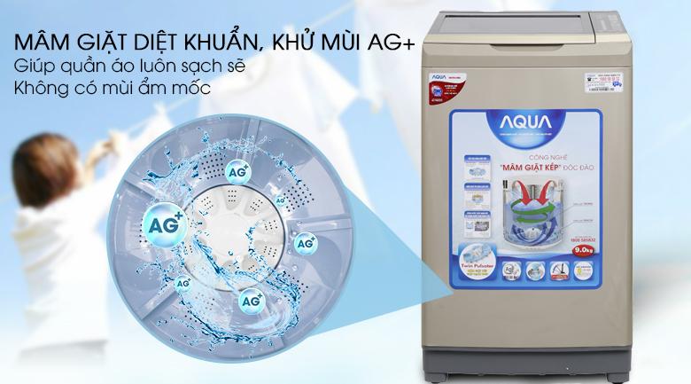 Mâm giặt kháng khuẩn - Máy giặt Aqua 9 kg AQW-W90AT N