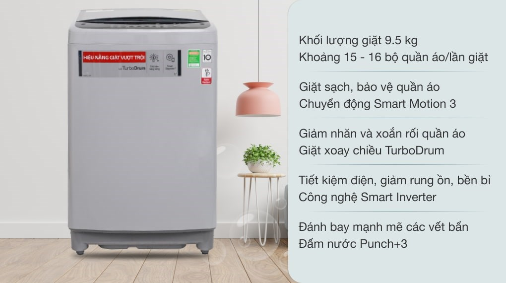 Máy giặt LG Inverter 9.5 kg T2395VS2M