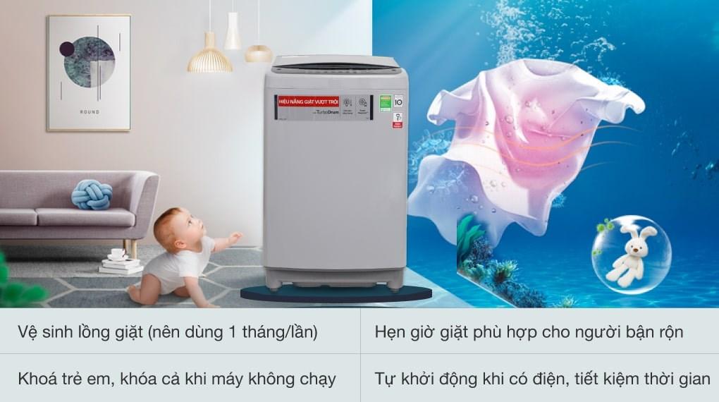 Punch+3 - Máy giặt LG Inverter 9.5 kg T2395VS2M
