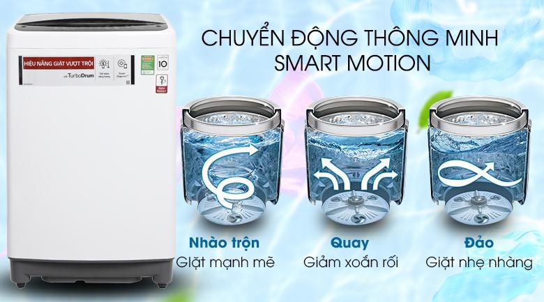 Smart Motion - Máy giặt LG Inverter 9.5 kg T2395VS2W