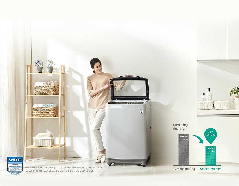 Máy giặt LG Inverter 9.5 kg T2395VS2W – Smart Inverter