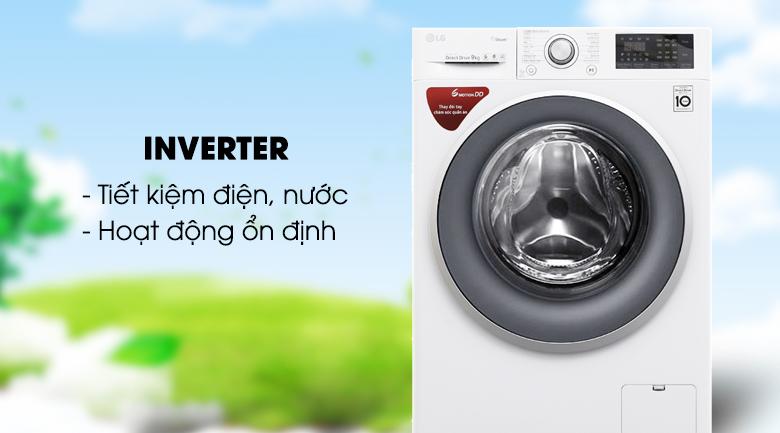 Máy giặt Inverter - Máy giặt LG Inverter 9 kg FC1409S3W